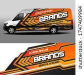 van livery vector design. car... | Shutterstock .eps vector #1747409984