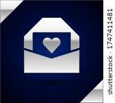 silver envelope with valentine...   Shutterstock .eps vector #1747411481