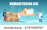 humanitarian support during... | Shutterstock .eps vector #1747440707