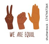 we are equal. rights for all... | Shutterstock .eps vector #1747447364
