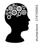 gears design over  background...   Shutterstock .eps vector #174745001