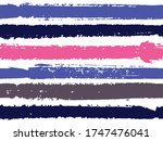 horizontal ink lines paint... | Shutterstock .eps vector #1747476041