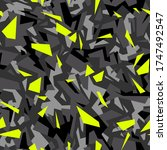 geometric camouflage texture... | Shutterstock .eps vector #1747492547