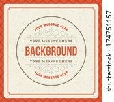 vintage background design... | Shutterstock .eps vector #174751157