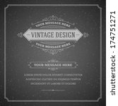 vintage design template. retro... | Shutterstock .eps vector #174751271