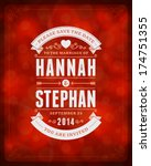 wedding invitation card... | Shutterstock .eps vector #174751355