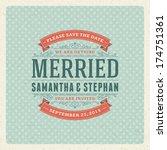wedding invitation card... | Shutterstock .eps vector #174751361