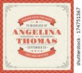 wedding invitation card... | Shutterstock .eps vector #174751367