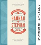 wedding invitation card... | Shutterstock .eps vector #174751379