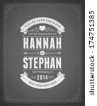 wedding invitation card... | Shutterstock .eps vector #174751385