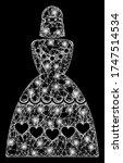 glowing web mesh muslim bride... | Shutterstock .eps vector #1747514534