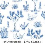 Toile De Jouy Style Pattern...