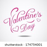valentines day background | Shutterstock .eps vector #174754001