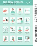 infographic the new normal life ... | Shutterstock .eps vector #1747555844