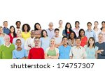 mixed group of people. | Shutterstock . vector #174757307
