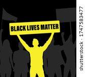 black lives matter blm protest... | Shutterstock .eps vector #1747583477