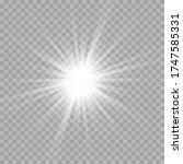 white glowing light burst... | Shutterstock .eps vector #1747585331