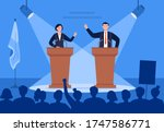 man and woman candidates are...   Shutterstock .eps vector #1747586771