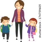 illustration of kids being...   Shutterstock .eps vector #174759605