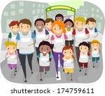 illustration of a family... | Shutterstock .eps vector #174759611