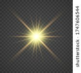 the yellow glowing light... | Shutterstock .eps vector #1747606544