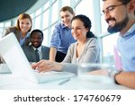 group of business partners... | Shutterstock . vector #174760679