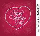 happy valentines day | Shutterstock .eps vector #174761129