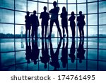 business team standing against... | Shutterstock . vector #174761495