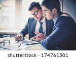 image of two young businessmen... | Shutterstock . vector #174761501