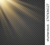 vector transparent sunlight... | Shutterstock .eps vector #1747636127