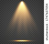 stage light ray isolated on... | Shutterstock .eps vector #1747637054
