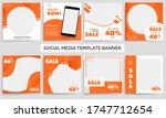 set of editable minimal square... | Shutterstock .eps vector #1747712654