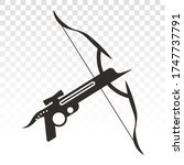Crossbow / pistol crossbow flat icons for apps and websites