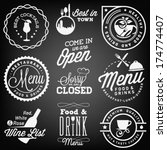 collection of restaurant menu... | Shutterstock .eps vector #174774407