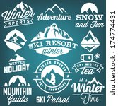 collection of winter sports... | Shutterstock .eps vector #174774431