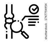 bone joint test icon vector.... | Shutterstock .eps vector #1747754954