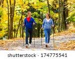 nordic walking   active people...   Shutterstock . vector #174775541