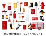 set of fireman on white... | Shutterstock .eps vector #1747757741