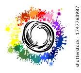 color wheel. colored paints... | Shutterstock .eps vector #1747763987