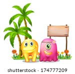 illustration of a yellow and a... | Shutterstock . vector #174777209