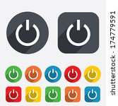 power sign icon. switch on...   Shutterstock .eps vector #174779591