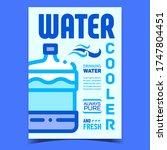 water cooler equipment creative ... | Shutterstock .eps vector #1747804451