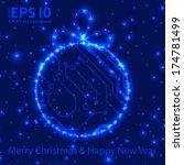 eps10 vector circuit board ball ... | Shutterstock .eps vector #174781499
