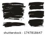 flat paint brush thin full... | Shutterstock .eps vector #1747818647