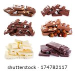 set of various chocolate on... | Shutterstock . vector #174782117