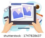 photo picture online album and... | Shutterstock .eps vector #1747828637