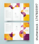 set tri fold abstract geometric ... | Shutterstock .eps vector #1747835597