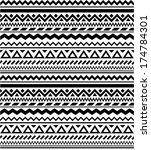 seamless geometric ethnic... | Shutterstock .eps vector #174784301