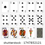 playing cards of spades suit on ...   Shutterstock .eps vector #1747852121
