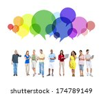 mixed race people lifestyle | Shutterstock . vector #174789149